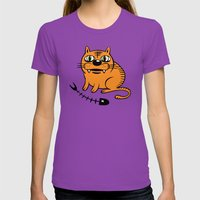 FAT CAT Womens Fitted Tee Ultraviolet SMALL