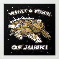 What a Piece of Junk! Canvas Print