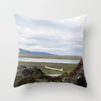 Abandoned :: A Lone Cano… Throw Pillow