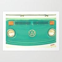 Groovy VW Art Print