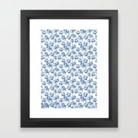 Lotus Pattern Framed Art Print