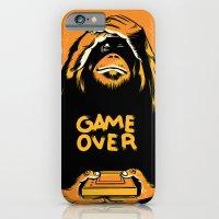 iPhone & iPod Case featuring Orange Quick Foot by John Duvengar