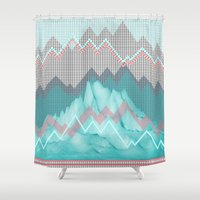 FLAT RELIEF Shower Curtain