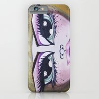 iPhone Cases featuring Alice Eyes by Artist Fran Doll