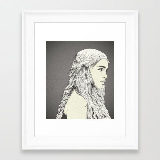 D T Framed Art Print