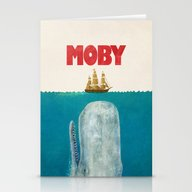 Stationery Cards featuring Moby  by Terry Fan