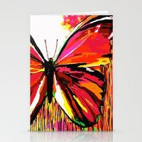 butterfly Stationery Cards featuring Butterfly  by Saundra Myles