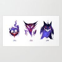 Ghostly Trio Art Print