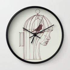 Be Alone Wall Clock