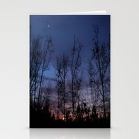 The Line Between Night A… Stationery Cards