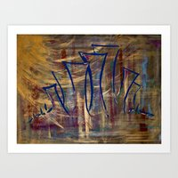 city lights laid out before us Art Print