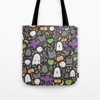 Kawaii Halloween - Black Tote Bag