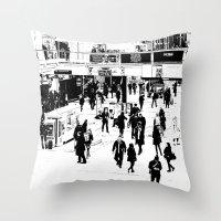 London Commuter Art Throw Pillow