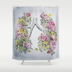Floral Anatomy Lungs Shower Curtain