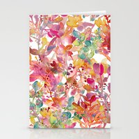 watercolor meadow Stationery Cards