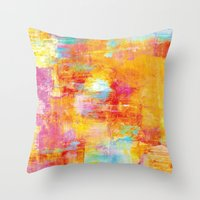 OFF THE GRID Colorful Pa… Throw Pillow