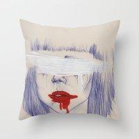 Damaged hearts Throw Pillow