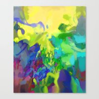 Yellow Lyrical Abstraction  Canvas Print