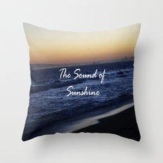 The Sound of Sunshine Throw Pillow