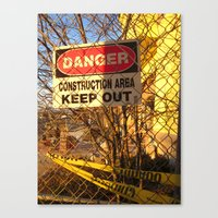 Fair Warning Canvas Print