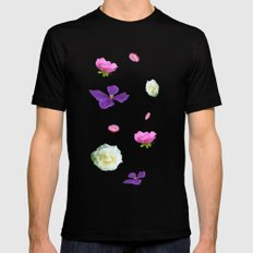 Blooming sky SMALL Mens Fitted Tee Black