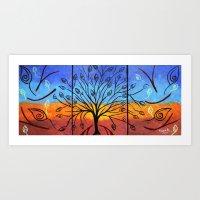 Abstract Tree 3 Art Print