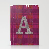 Winter clothes. Letter A III. Stationery Cards