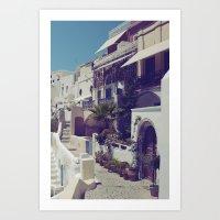 Streets Of Santorini I  Art Print