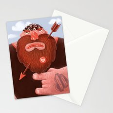 Biker in love Stationery Cards