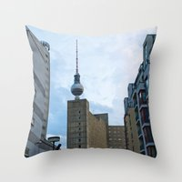 Fernsehturm Berlin - Bac… Throw Pillow