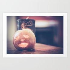 Spooky Apple Art Print