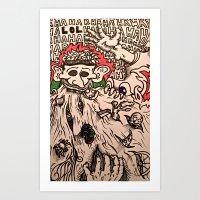 He Who Consumes Art Print