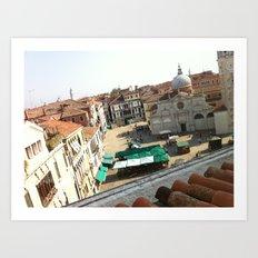 view from ruzzini - venice Art Print