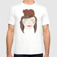 Bear In Mind Mens Fitted Tee White SMALL