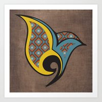 Persian Bird Art Print