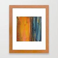 Blue And Orange - Textur… Framed Art Print