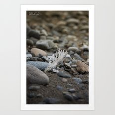 ... walk on the beach ... Art Print