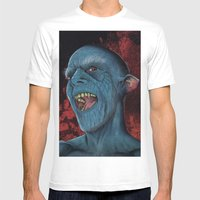Hello Vampire Mens Fitted Tee White SMALL