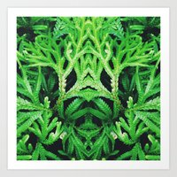 50 Shades Of Green (4) Art Print