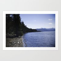 Lake Yellowstone Art Print