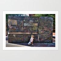 Taking My Chalk And Goin… Art Print