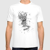 Splatter Kitty Mens Fitted Tee White SMALL