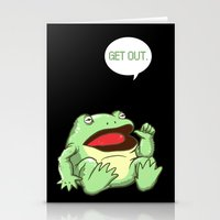 GET OUT. Stationery Cards