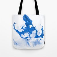 Paint 3 abstract modern art wall art for college dorm school trendy painting brushstrokes water wave Tote Bag