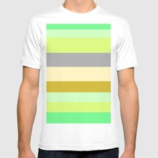 Just Stripes  Mens Fitted Tee White SMALL