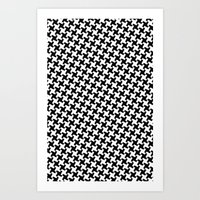 Houndstooth (Pepita) Art Print