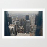 Skyline in Perspective Art Print