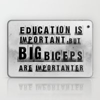 education is importanter Laptop & iPad Skin
