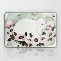White Rabbit, Pink Poppies Laptop & iPad Skin