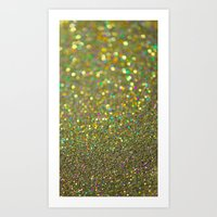 Partytime Gold Art Print